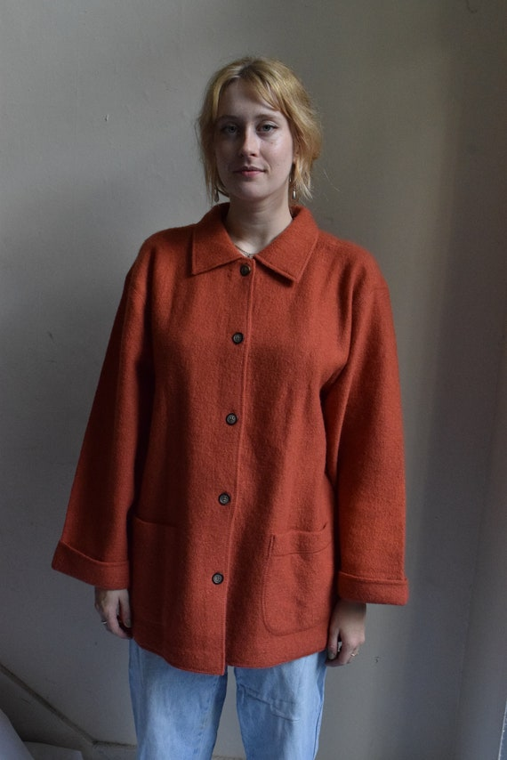 Terracota Wool Coat