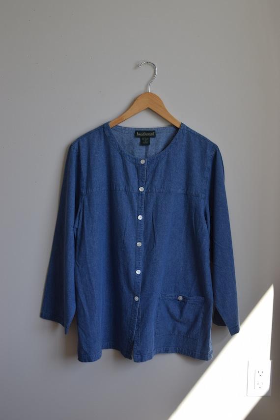 Silk Denim Chore Shirt