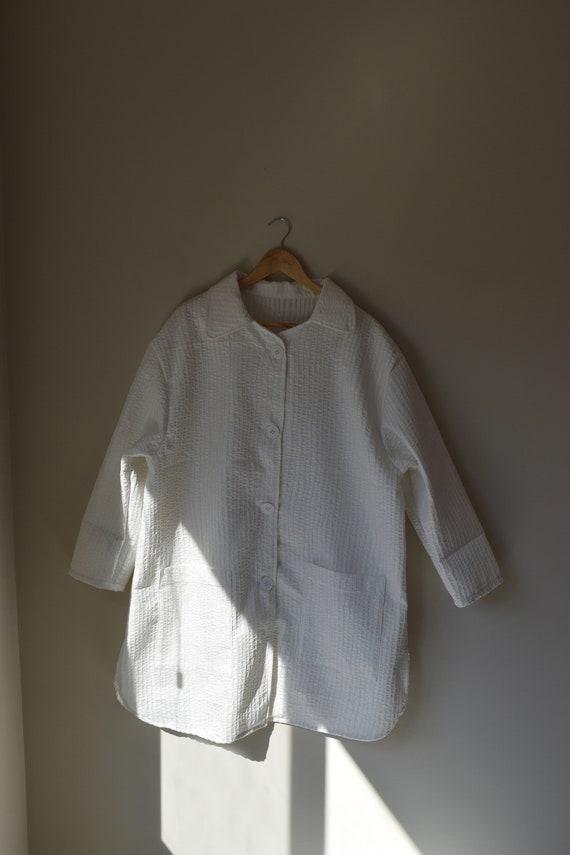 White Pinstripe Chore Jacket
