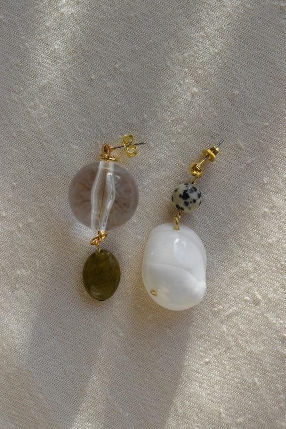 Jasper & Shell Earrings