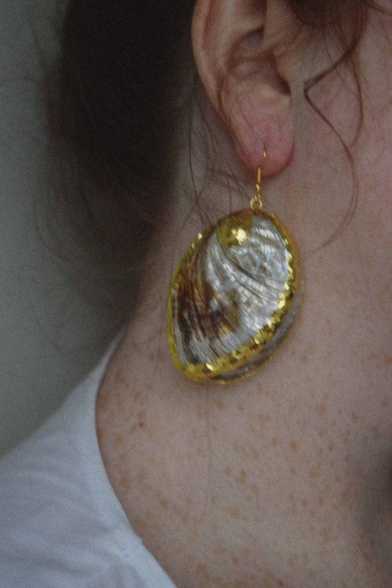 Oversized Shell Earrings