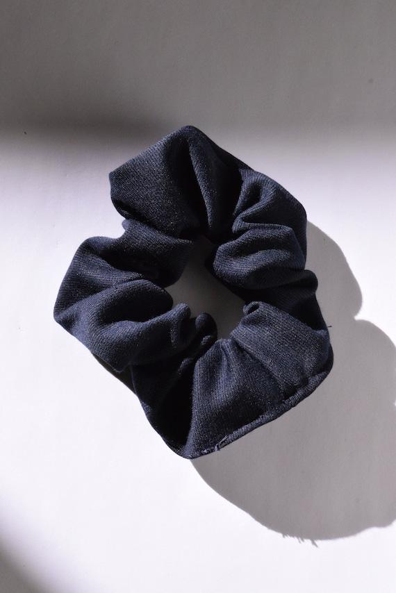 Navy Jersey Hair Scrunchie    Add-on Item