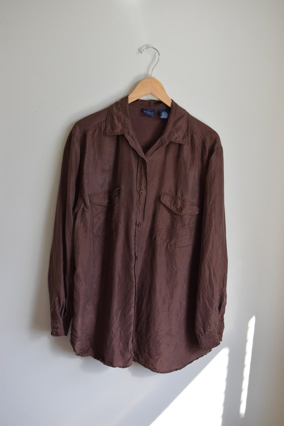Chestnut Silk Blouse