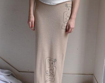 Reina Knit Maxi Skirt.