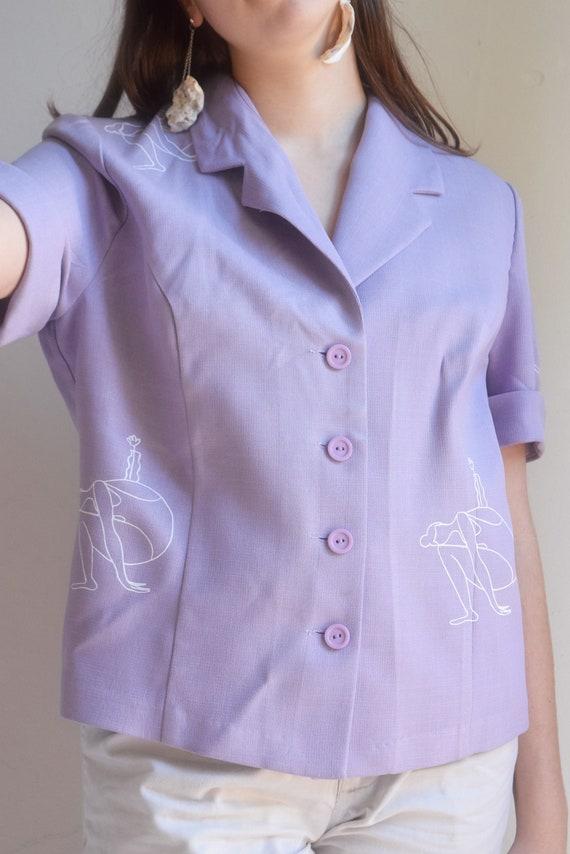 Lavender Mara B Short Sleeve Shirt.