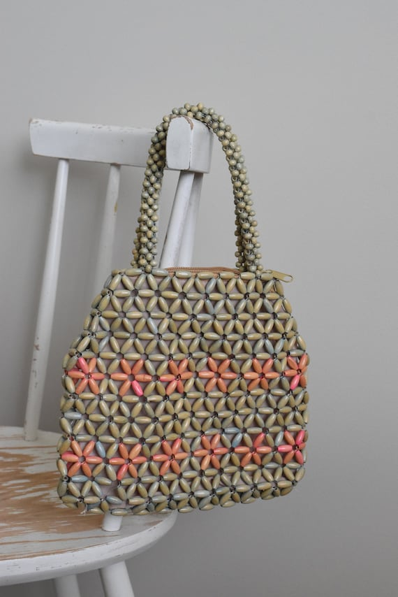 Wooden Beaded Handbag