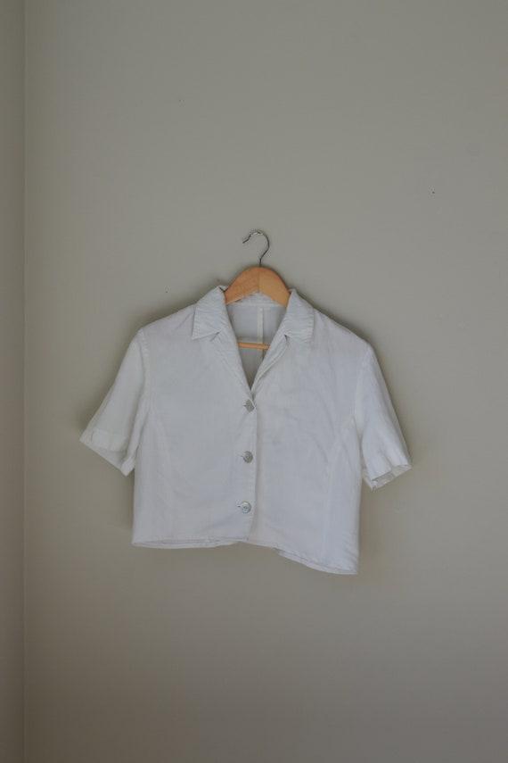 Ivory Cropped Shirt