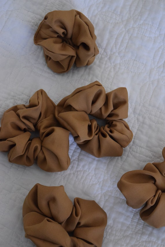 Wheat Tencel Hair Scrunchies