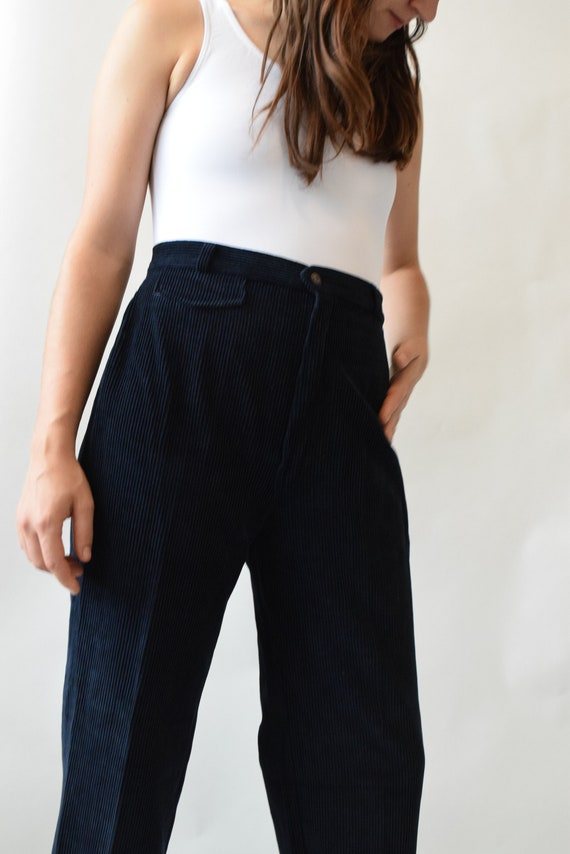 Navy Courdroy Trousers