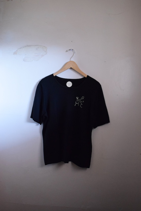 Black Leisure Box Tee