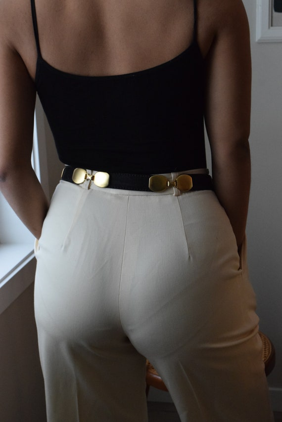 Leather & Brass Link Belt