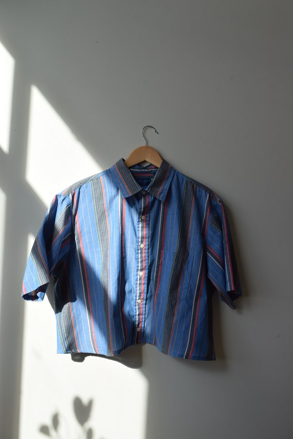 Reworked Pinstripe Blouse