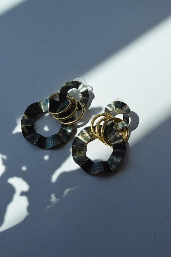 Woodgrain Ripple Earrings