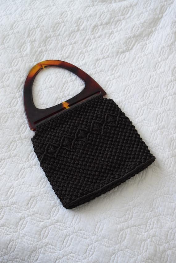 Truffle Brown Knit Handbag