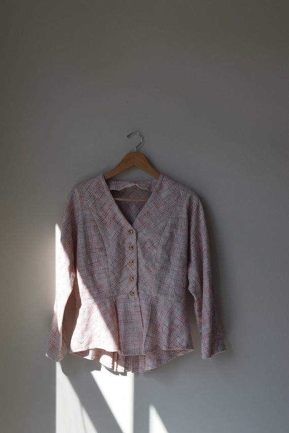 Tweed Peplum Blouse
