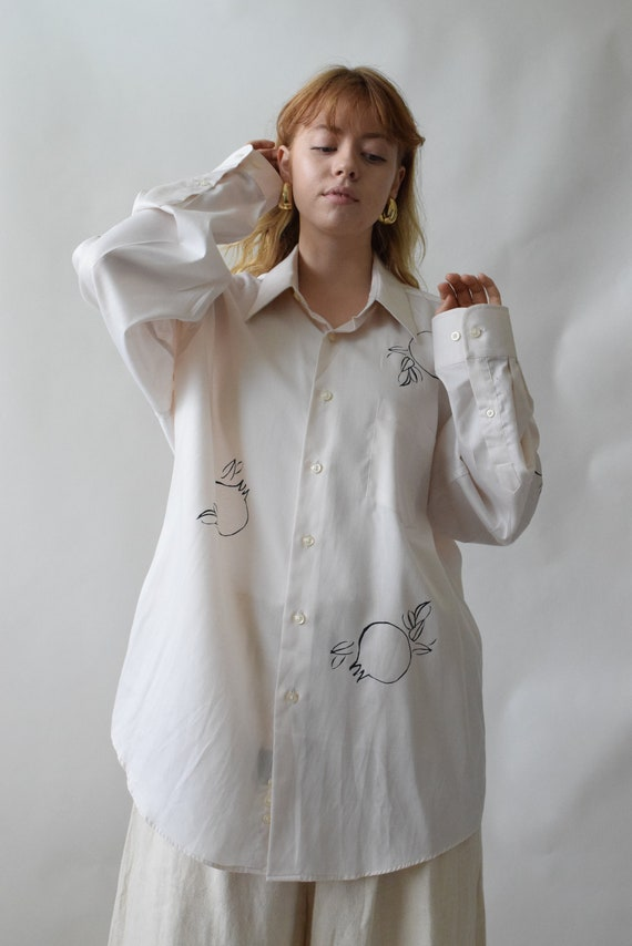 Rodie Ivory Tencel Button Down