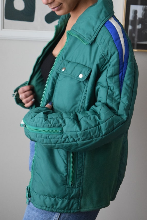 70s Kelly Green Bomber Jacket