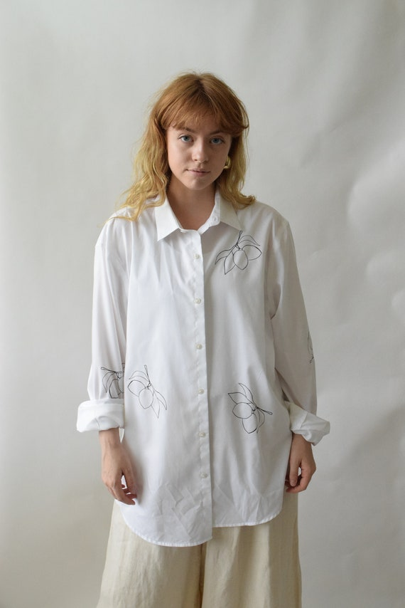 Lydia White Cotton Button Down
