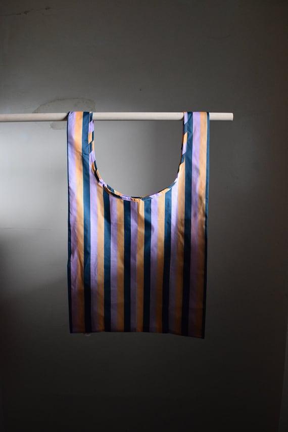 Baggu Reusable Tote  |  90's Peach Stripe