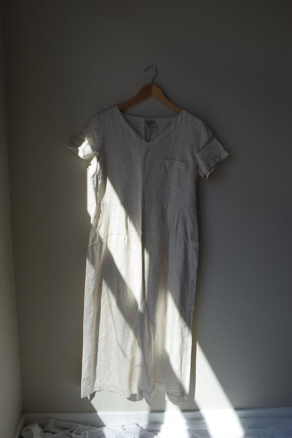 Laura Ashley Oat Linen Dress