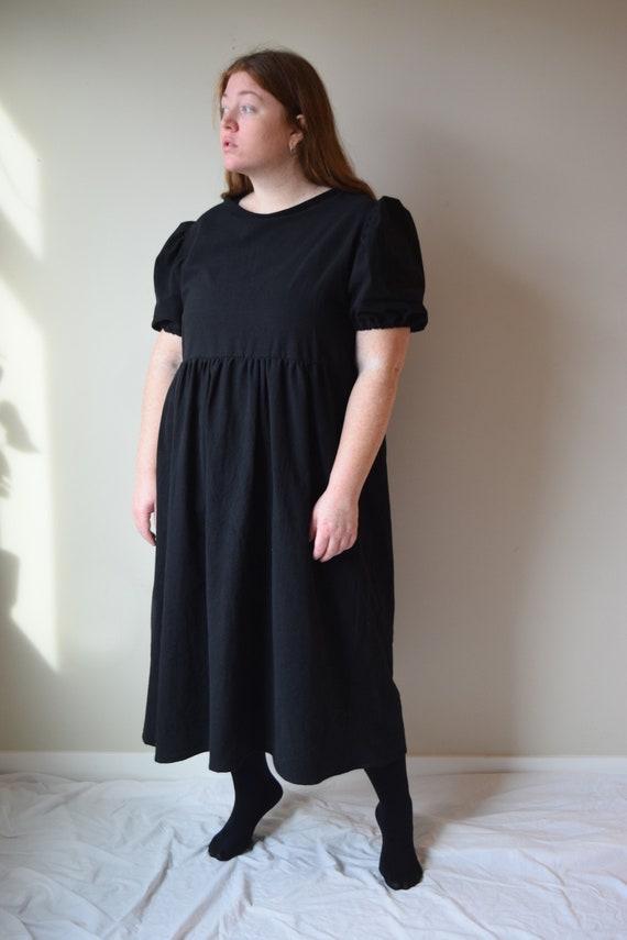 Black Cotton Bobbi Dress