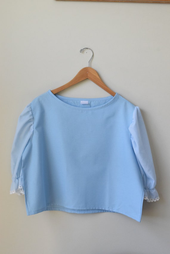 Bobbi Baby Blue Puff Sleeve Tee