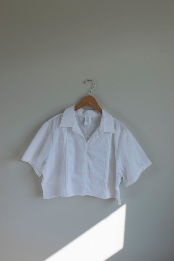 Reworked Cropped Blouse