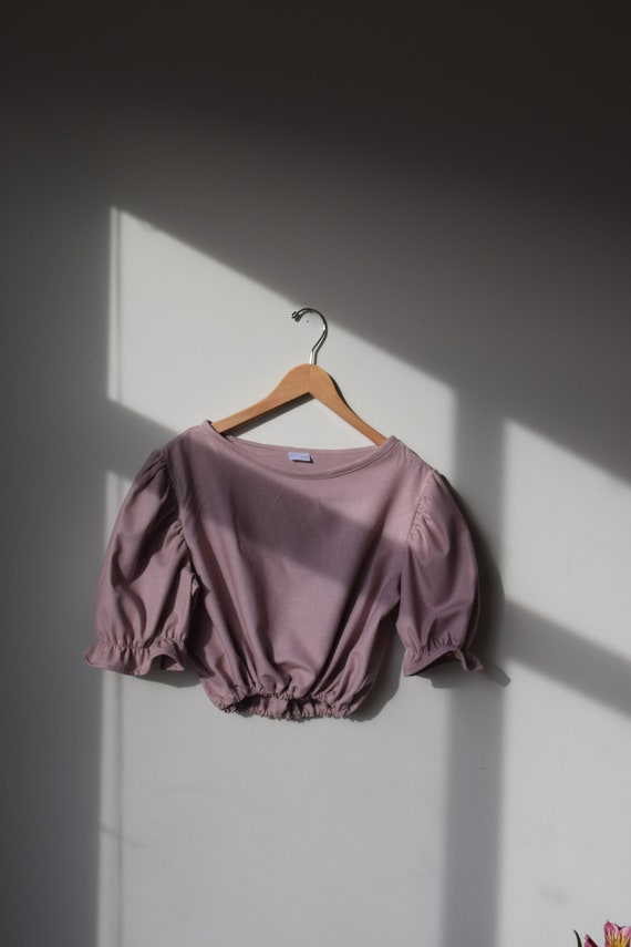 Mulberry Silk Puff Sleeve Top