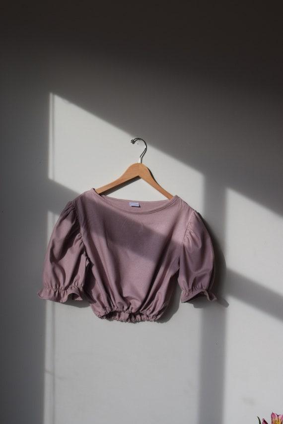 Mulberry Silk Puff Sleeve Top