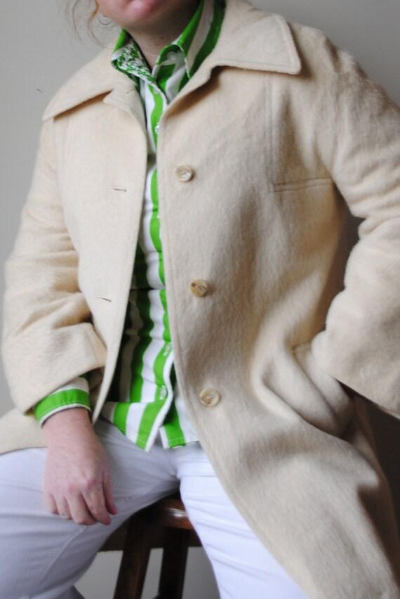 Vintage 70s Cream Wool Coat