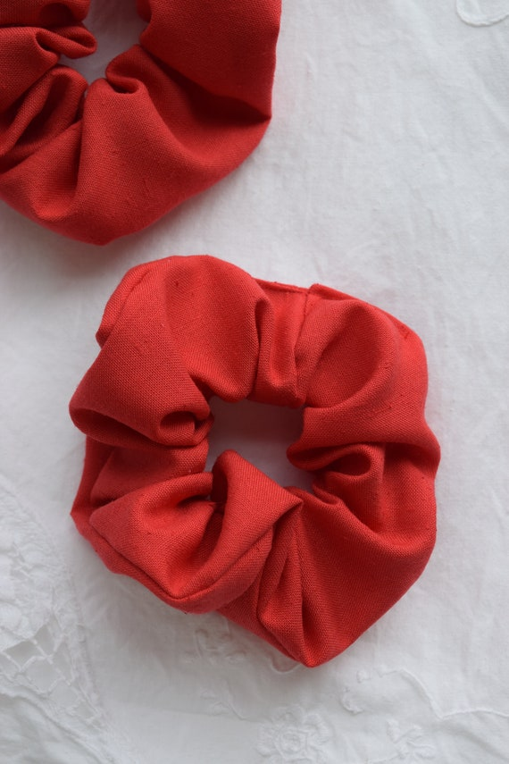 Strawberry Red Hair Scrunchies