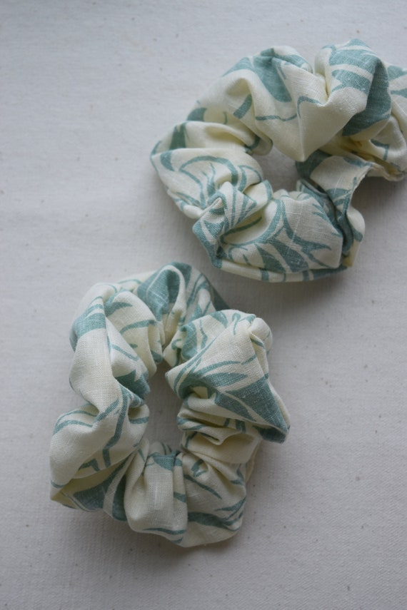 Abstract Palm Leaf Scrunchies