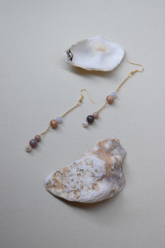 Venice Gold Chain Earrings.