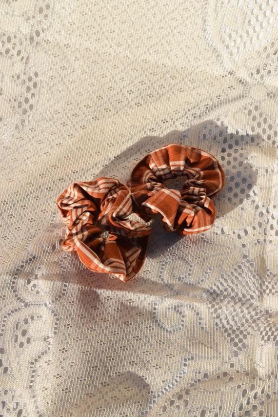 Rust Plaid Hair Scrunchie  |  Add-on Item