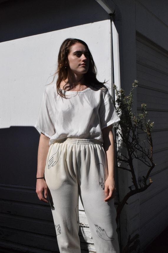 Paloma Ivory Knit Pants.