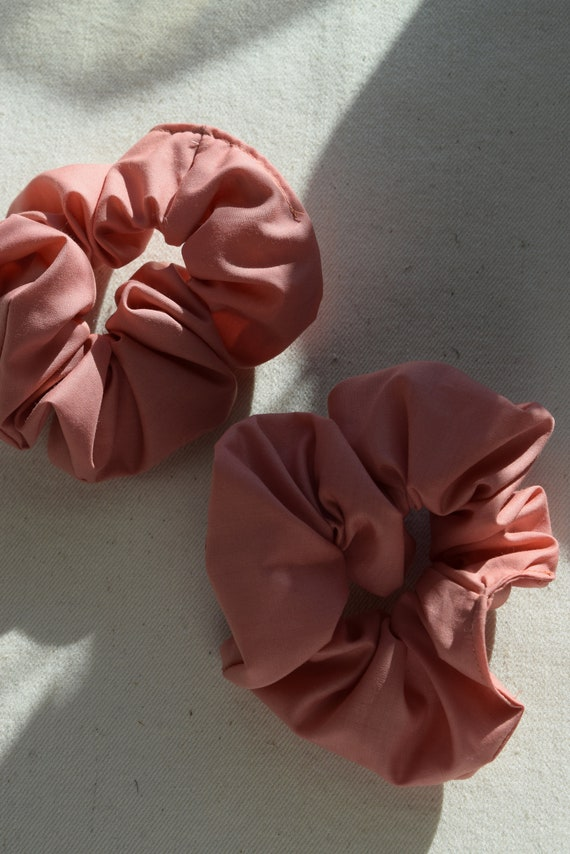 Rose Cotton Hair Scrunchies