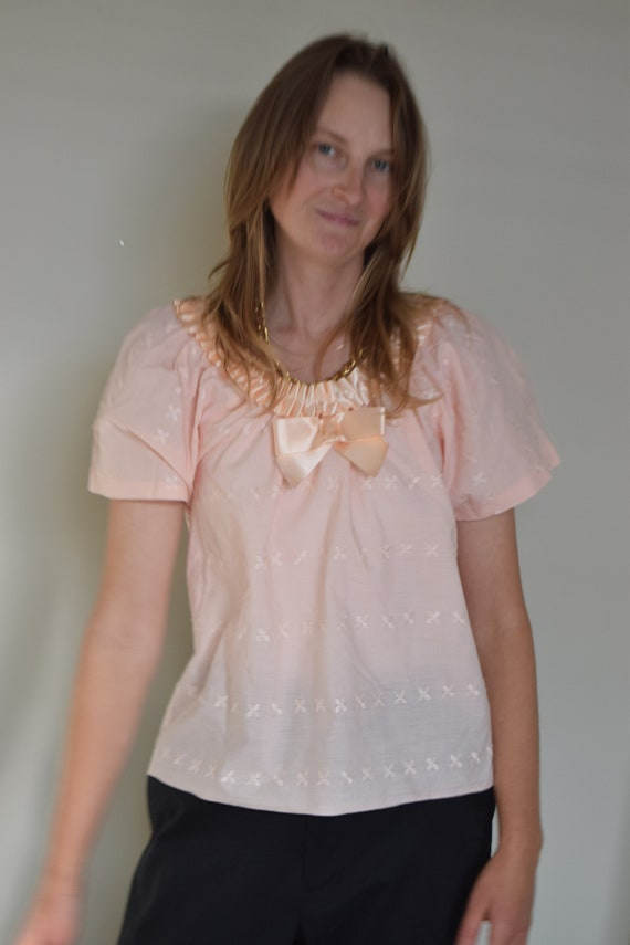Pastel Pink Embroidered Tee
