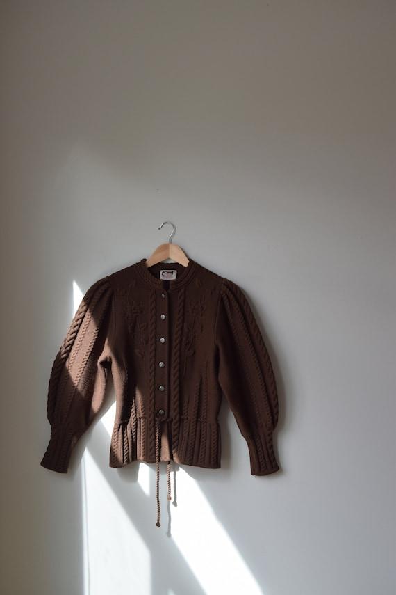 Chocolate Austrian Wool Cardigan