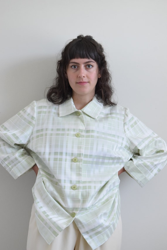 Green Plaid Chore Shirt