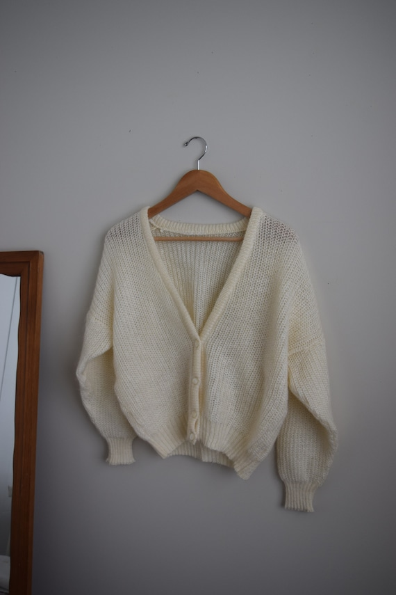 Cream Mohair Cardigan