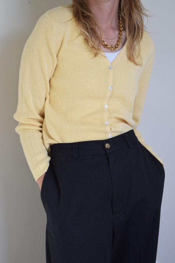 Butter Yellow Cardigan