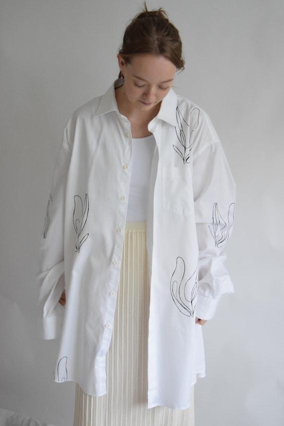 Oversized White Lilja Painters Shirt
