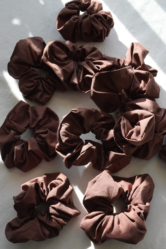 Truffle Pima Cotton Scrunchie
