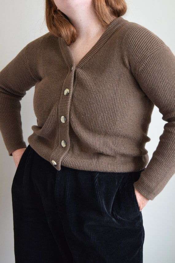 Walnut Linen Cardigan