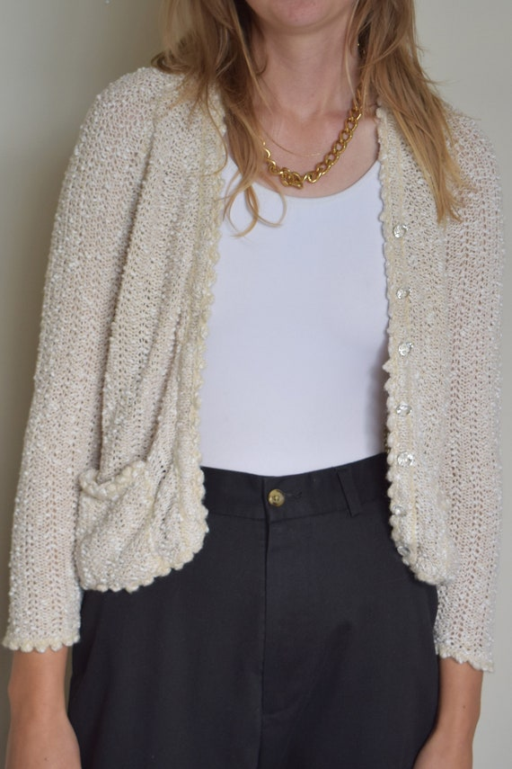 Oat Cropped Cardigan