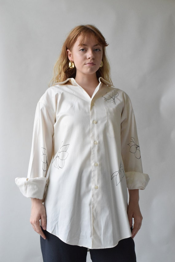 Cream Long Sleeve Lydia Shirt