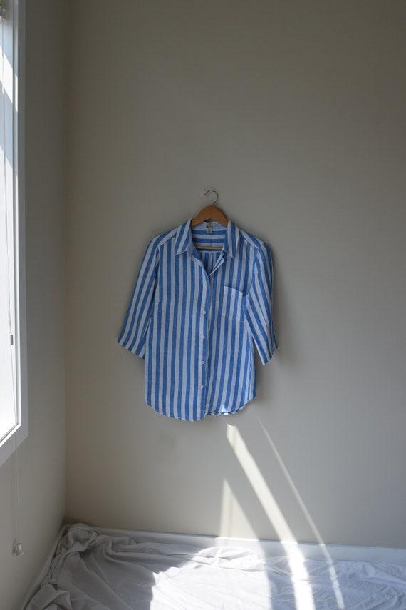 Striped Linen Button Down