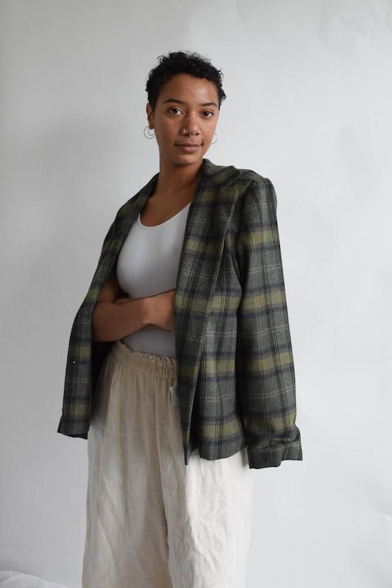 Forrest Green Wool Plaid Jacket