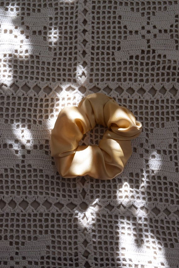Apricot Satin Scrunchies