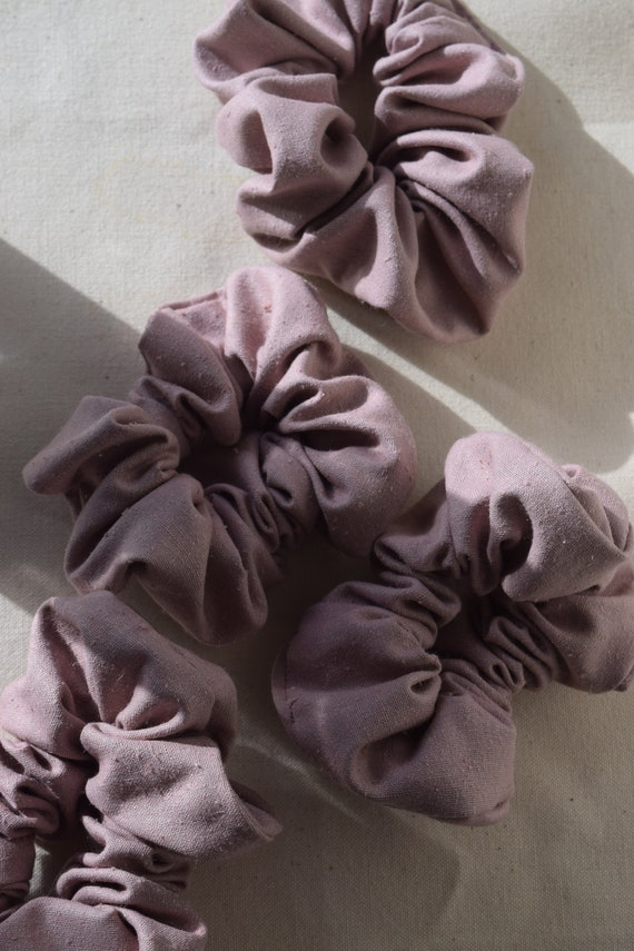 Mulberry Raw Silk Hair Scrunchies